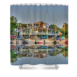Pascagoula Boat Harbor Shower Curtain