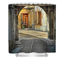 Shower Curtain featuring the photograph Passageway And Arch In Provence by Dave Mills