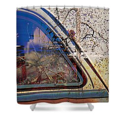 Passenger Side Ride Guild  Shower Curtain by Jerry Cordeiro