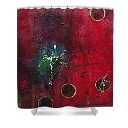 Shower Curtain featuring the painting Passion 2 by Nicole Nadeau