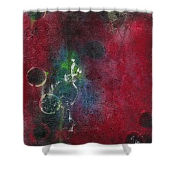 Shower Curtain featuring the painting Passion 3 by Nicole Nadeau