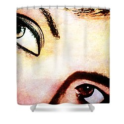 Shower Curtain featuring the photograph Passionate Eyes by Ester  Rogers