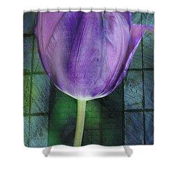 Passionate Purple Shower Curtain by Trish Tritz