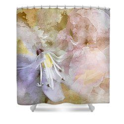 Pastel Floral  Shower Curtain by Elaine Manley