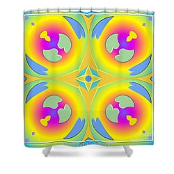 Pastel Hearts Warp 2 Shower Curtain by Rose Santuci-Sofranko