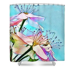 Pastel Petals Shower Curtain by Judi Bagwell
