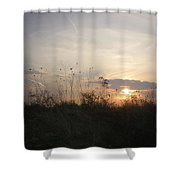 Pasture Sunset Shower Curtain