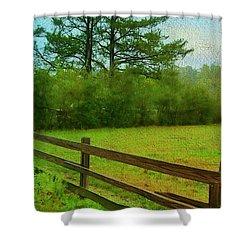 Pastureland Shower Curtain by Judi Bagwell