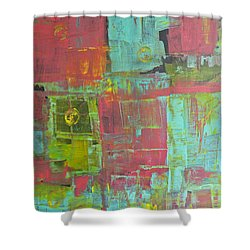 Patching Together Memories Shower Curtain by Wayne Potrafka