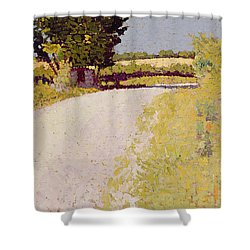 Path In The Country Shower Curtain by Charles Angrand