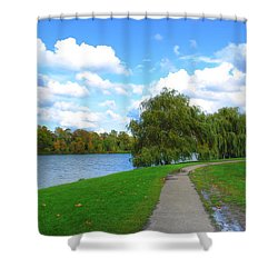 Shower Curtain featuring the photograph Path by Michael Frank Jr