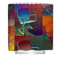 Shower Curtain featuring the photograph Patio Chair by David Pantuso
