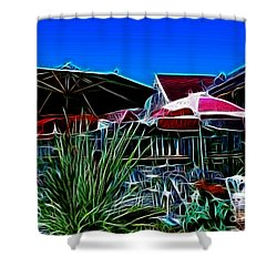 Patio Umbrellas Shower Curtain by Methune Hively