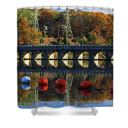 Patterns Of Reflection Shower Curtain by Karol Livote