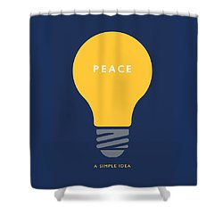 Peace A Simple Idea Shower Curtain by David Klaboe