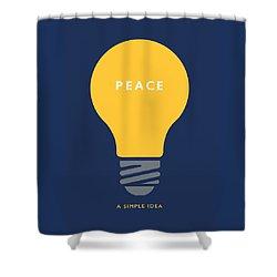 Peace A Simple Idea Shower Curtain