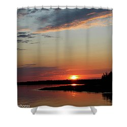 Shower Curtain featuring the photograph Peaceful Sunset by Rachel Cohen