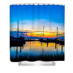 Peacefull Sunset Shower Curtain