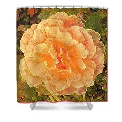 Peach Begonia Shower Curtain