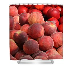 Peaches And Nectarines Shower Curtain by Carol Groenen