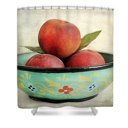 Peaches Shower Curtain by Darren Fisher