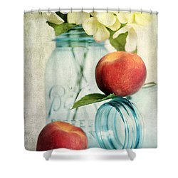 Peachy Shower Curtain by Darren Fisher