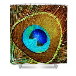 Peacock Feather 1 Shower Curtain