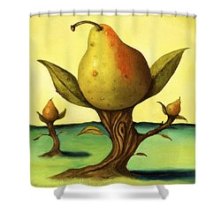 Pear Trees 2 Shower Curtain by Leah Saulnier The Painting Maniac