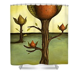 Pear Trees Shower Curtain by Leah Saulnier The Painting Maniac