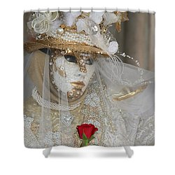 Pearl Bride With Rose 2 Shower Curtain by Donna Corless
