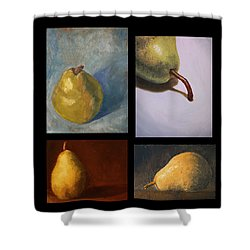 Pears The Series Shower Curtain