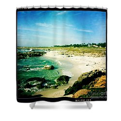 Shower Curtain featuring the photograph Pebble Beach by Nina Prommer