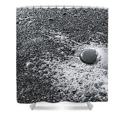 Pebble On Foam Shower Curtain