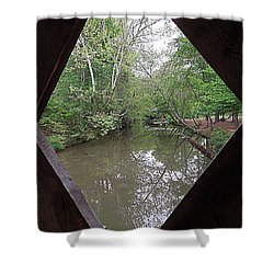 Shower Curtain featuring the photograph Peering Out by Renee Trenholm