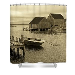 Peggys Cove In Sepia Shower Curtain by Richard Bryce and Family