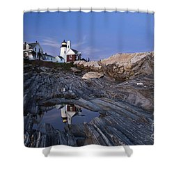Pemaquid Point Lighthouse - D002139 Shower Curtain by Daniel Dempster
