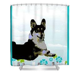 Pembroke Welsh Corgi Shower Curtain by One Rude Dawg Orcutt
