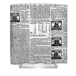 Pennsylvania Gazette, C1749 Shower Curtain by Granger