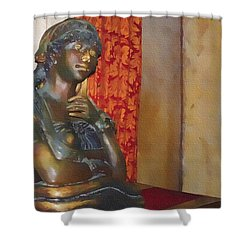 Pensive Statue Shower Curtain