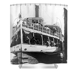 People Fleeing Galveston After Flood - September 1900 Shower Curtain by International  Images
