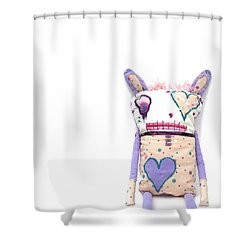Percry Of The Cutie Patootie Zombie Bunny Twins Shower Curtain by Oddball Art Co by Lizzy Love