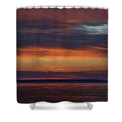 Perdido Pass Red Sunrise Shower Curtain by Michael Thomas