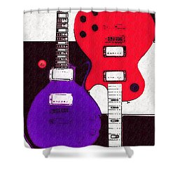 Perfect Fit -   Les Paul Shower Curtain by Bill Cannon