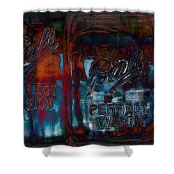 Perfect Mason Shower Curtain by Ron Jones