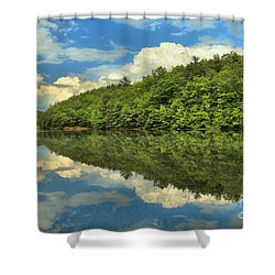 Perfect Reflections Shower Curtain by Adam Jewell