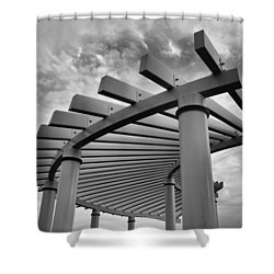 Shower Curtain featuring the photograph Pergola by Brian Hughes