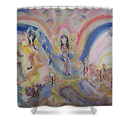Shower Curtain featuring the painting Persian Fairy Entrance by Judith Desrosiers