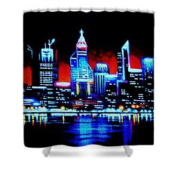 Perth By Black Light   Sold Shower Curtain