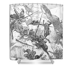 Peru: Battle Of Ayacucho Shower Curtain by Granger