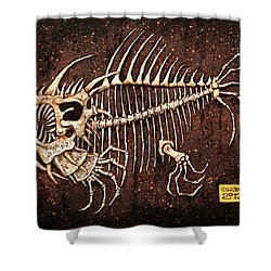Pescado Seis Shower Curtain by Baron Dixon